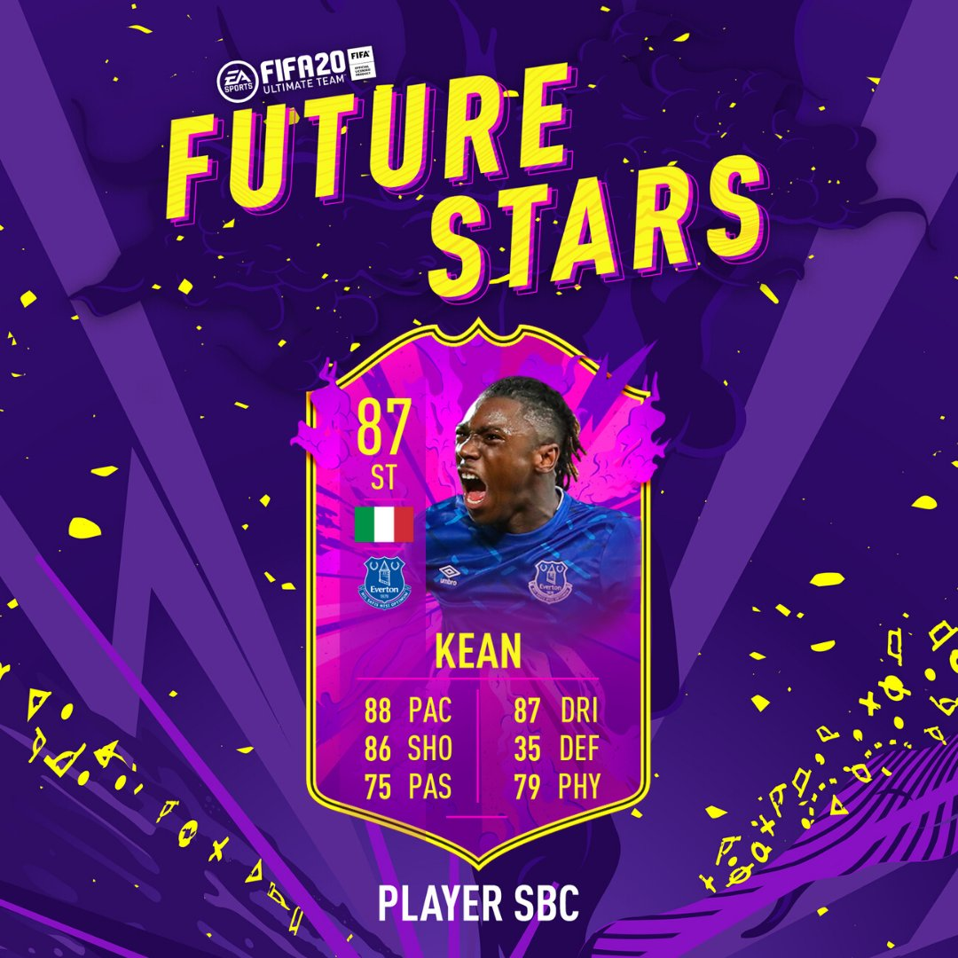 Fifa 20 Ultimate Team Moise Kean Future Star Sbc Requirements Costs And Analysis Newsgroove Uk