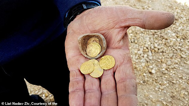 The gold hoard was found inside a small juglet, near the entrance to one of the kilns and according to the archaeologists could have been the potter's personal savings