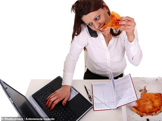 Deadlines could make time-pushed people indulge in more calorific foods because they are compensating the feeling of loss with food, a study in India suggests (stock)