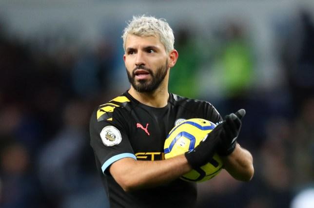 Manchester City star Sergio Aguero scored a record-breaking hat-trick against Aston Villa