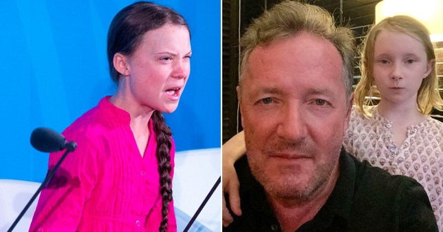 Greta Thunberg and Piers Morgan
