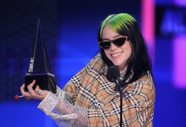 Billie Eilish - Favorite Artist (Alternative Rock) 47th Annual American Music Awards, Show, Microsoft Theater, Los Angeles, USA - 24 Nov 2019
