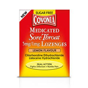 Covonia medicated sore throat lozenges
