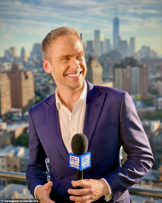 New kid on the block:Steve parted ways with Channel Nine late last year, after being replaced as the Today's show weather presenter by Tim Davies (pictured)