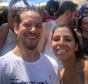 Ben and his ex-wife Natália at São Paulo carnival in 2019.