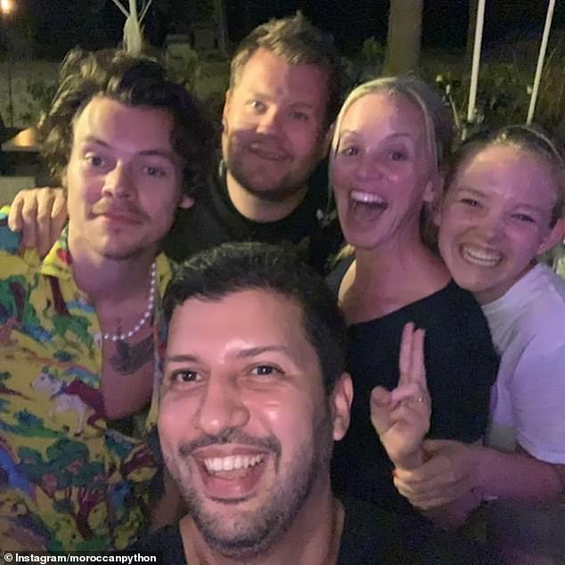 Stars: The two singers have been on holiday together in the Caribbean with James Corden and his family