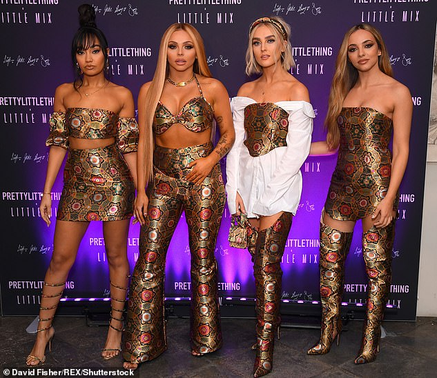 Insecurities: The Black Magic songstress, 27, admitted it was her band's support that helped her recover (Pictured L-R Leigh-Anne Pinnock, 28, Jesy Nelson, 28, Perrie Edwards, 26 and  Jade)
