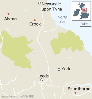Alstom plants closing in the North of England map