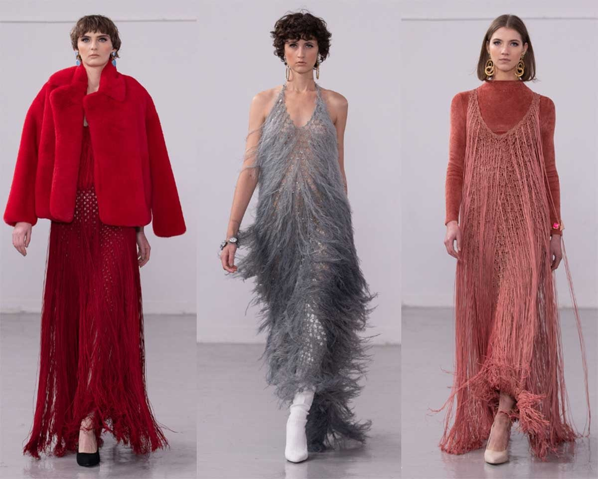 LFW AW20: Tulle, sequins and couture glamour