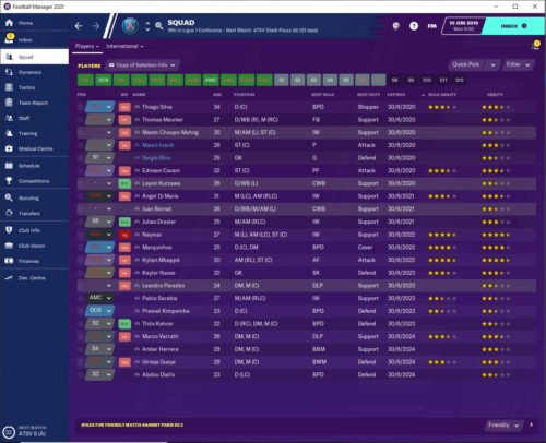 PSG FM20 Contracts