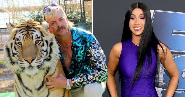 Cardi D and Joe Exotic in Tiger King