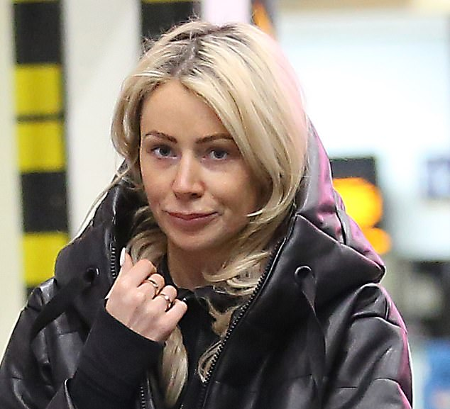 Stepping out:Olivia Attwood was seen at a train station with her fiancé Bradley Dack days after their Dubai holiday