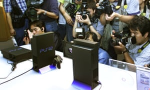 Sony unveils the PS2 in Tokyo in 1999.