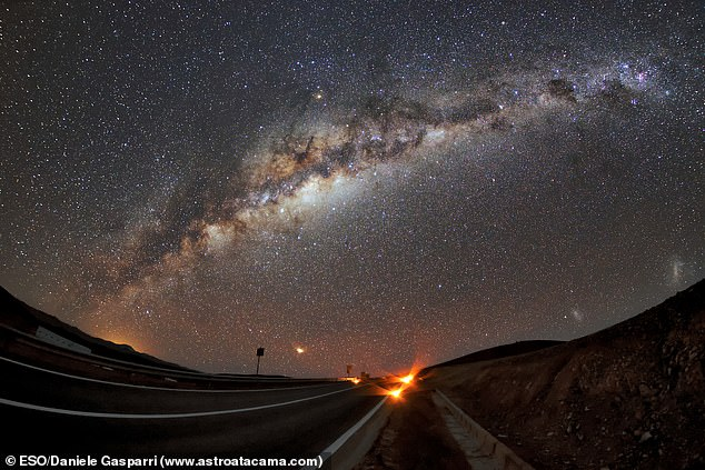 The Milky Way, our own galaxy, stretches across the sky over Paranal, the site of ESO's Very Large Telescope. Paranal has about 300 clear nights per year but this could be hampered with thousands of satellites in low Earth orbit