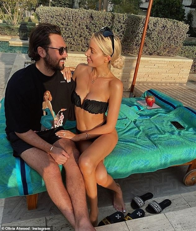 Romantic: The fan had commented on a picture of Olivia with her fiancé Bradley Dack, which she shared after they returned to the same place in Dubai where he'd proposed to her