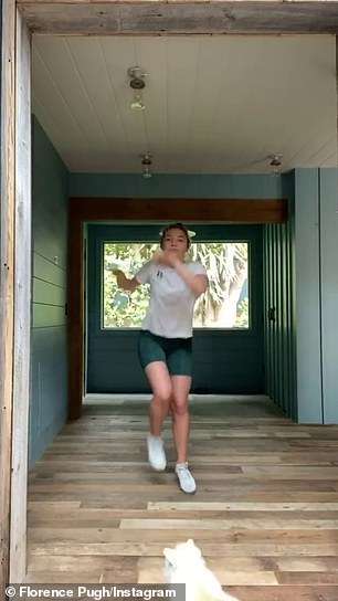 Oscar nominee Florence Pugh took note and shared a video of herself dancing up a storm to Got a Lot o' Livin' to Do and asking her 1.4M followers to do the same