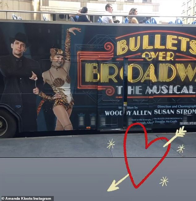 Castmates: Amanda and Cordero originally met while performing in the musical Bullets Over Broadway together at the St. James Theatre in Manhattan