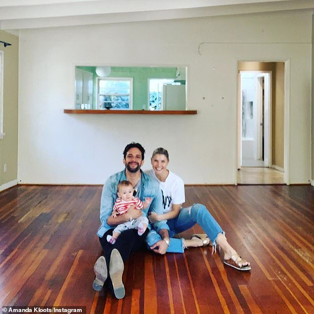 Show business couple: The Inside Game actor and The Irishman dancer are parents to 10-month-old son Elvis (pictured February 1)