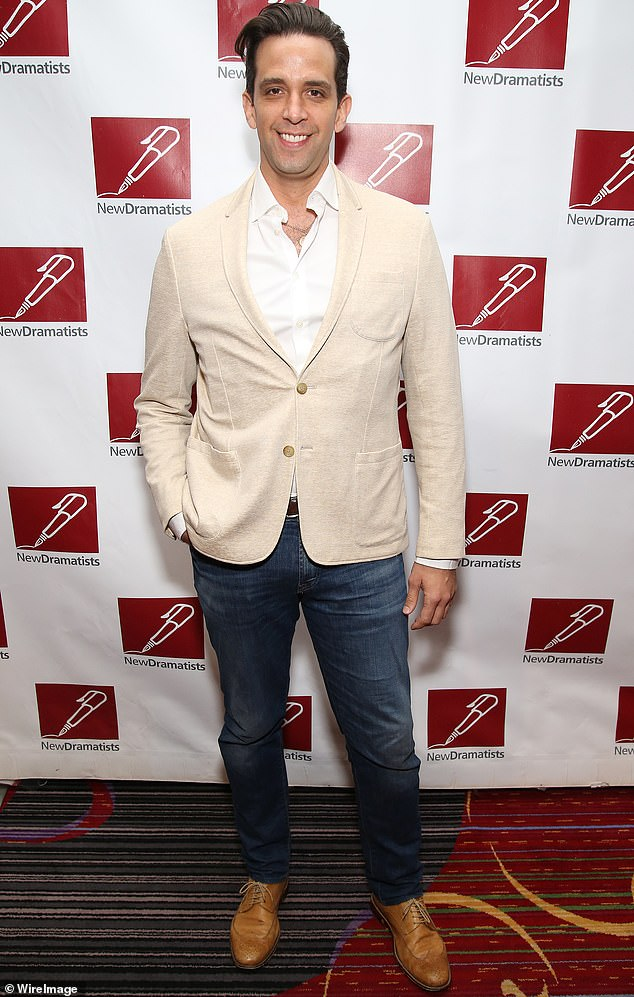 As seen in better times:The actor has been hospitalized with the illness for more than two weeks; he is pictured at the New Dramatists' Spring Luncheon in New York in 2017