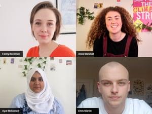 Fanny Beckman, Anna Marshall, Ayat Mohamed and Chris Martin