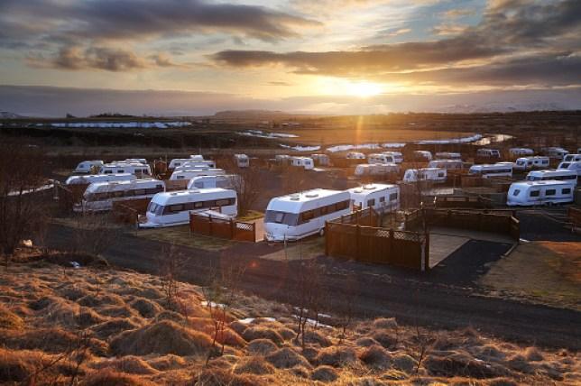 a caravan site