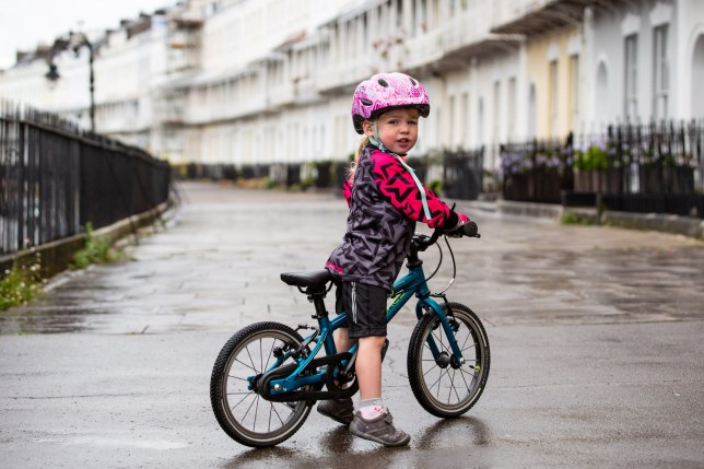 Two-year-old Daisy who got her first bike as a seven-month-old and took to it instantly, she can now do 11 miles unassisted