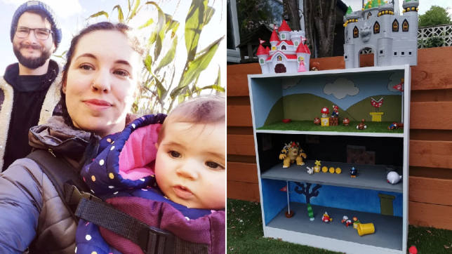 Amy Field and her Mario play unit