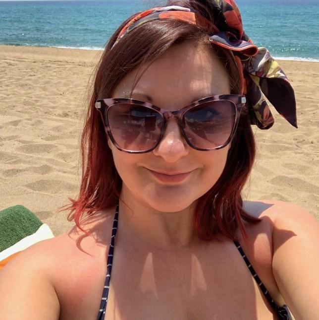 Rosie Mullender on the beach