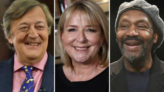 Left-right: Stephen Fry, Fern Britton and Sir Lenny Henry