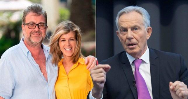 Kate Garraway husband Derek Draper, Tony Blair