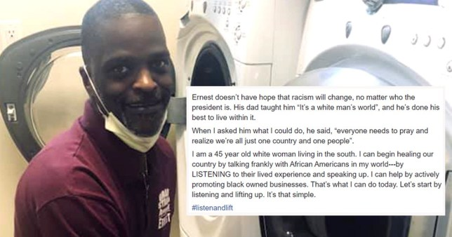 Black repairman who taught white woman about racism