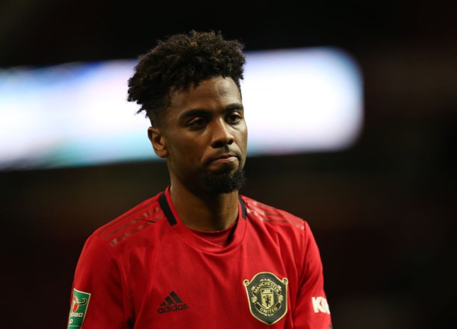 Angel Gomes of Manchester United walks off after the Carabao Cup Semi Final match between Manchester United and Manchester City at Old Trafford on January 07, 2020 in Manchester, England.