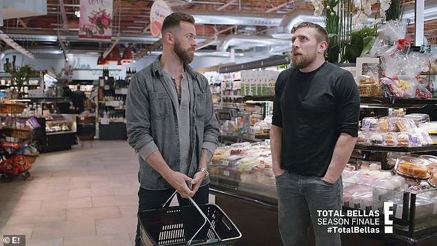 Guy talk: Artem and Bryan Danielson talked about what it was like to date the Bellas, who had many 'ups and downs' emotionally and had grown up without a great deal of stability