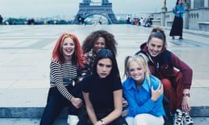 Victoria Beckham with the Spice Girls in Paris, 1996.