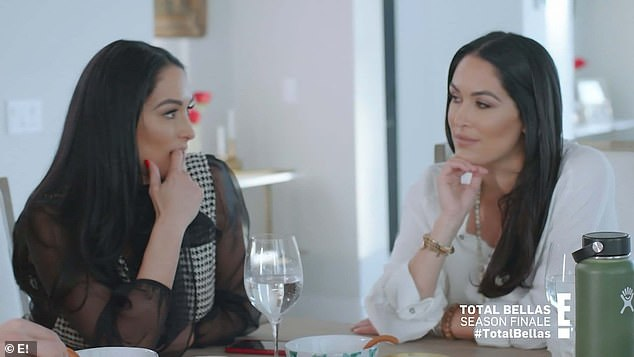 Joint party: Nikki was trying to get pregnant Brie to join her in the gender reveal party