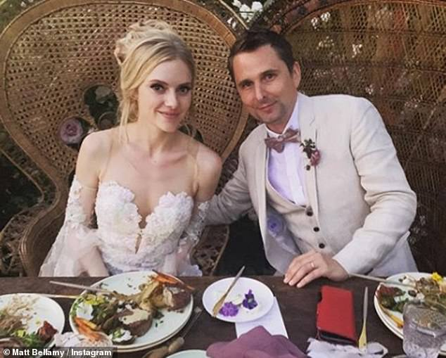 Beautiful:Matt tied the knot with Elle in August in an enchanting Malibu garden ceremony, 18 months after they first announced their engagement in December 2017