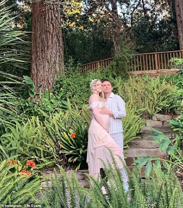 Happy family: The model has previously teased the birth of her and Matt's daughter, writing on her bio on Instagram that she was a 'Mommy-to-be late May 2020'