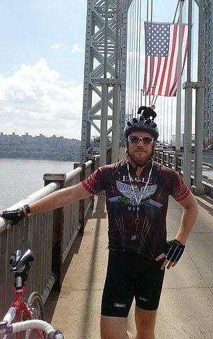 Two back surgeries and multiple rounds of physical therapy didn't help. Pictured: Weberparticipating in the Northeast AIDS Bike Ride before his illness