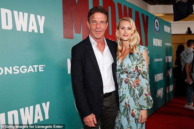 Married:The lovebirds only had their pastor as their witness, according to People; pictured October 2, 2019 in Honolulu, Hawaii at the Midway Special Screening