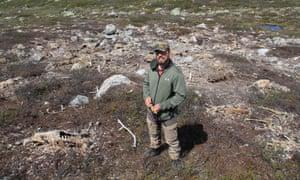 Lead researcher Shane Frank on Hardangervidda plateau.
