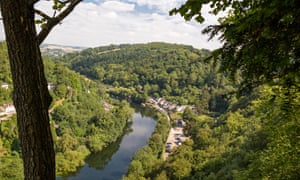 View over the River Wye at Symonds Yat