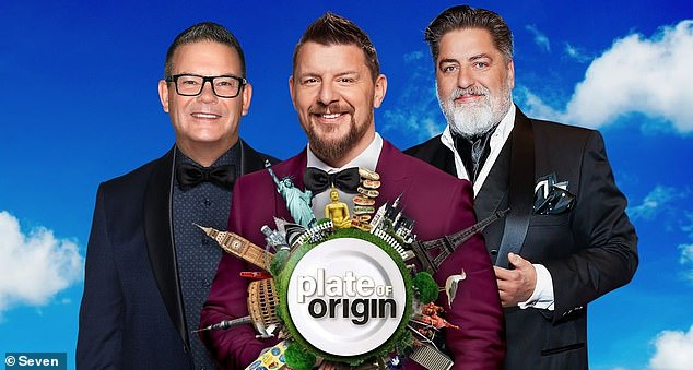 Channel Seven revealed a first-look trailer for upcoming cooking competition, Plate of Origin on Sunday.  Pictured: Plate of Origin judges (L-R) Gary Mehigan, Manu Feildel, Matt Preston