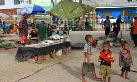 Gerehu market on the outskirts of Port Moresby.