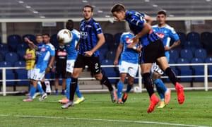 Mario Pasalic (front) gives Atalanta the lead against Napoli.