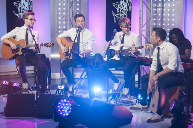 McFly perform on'This Morning' TV Programme, London, Britain - 26 Nov 2012