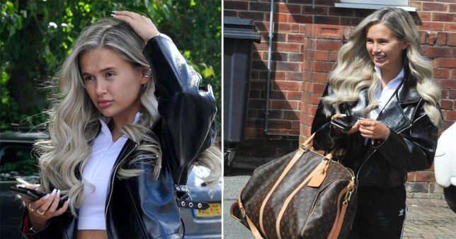 Molly-Mae Hague spotted leaving hair salon with new blonde colour