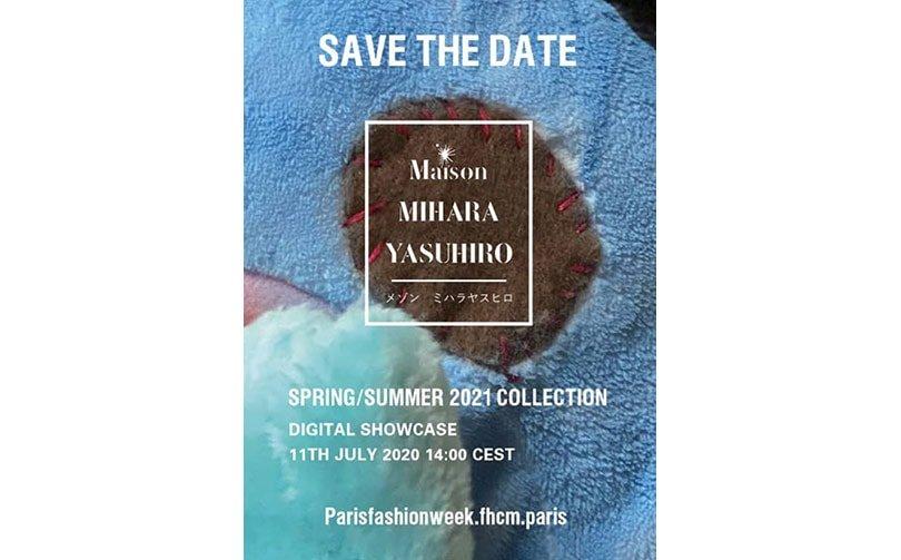 PARIS FASHION WEEK SS21 - MAISON MIHARA YASUHIRO - SAVE THE DATE