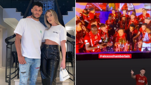 Perrie Edwards Alex Oxlade Chamberlain Liverpool win Instagram