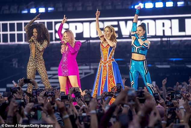 Savage! On Tuesday, comedian Ross Noble compared Victoria's COVID-19 outbreak to the Spice Girl's reunion tour in a savage sledge on The Project (Pictured are Spice Girl members left to right Melanie Brown, Emma Bunton, Geri Halliwell and Melanie Chisholm)