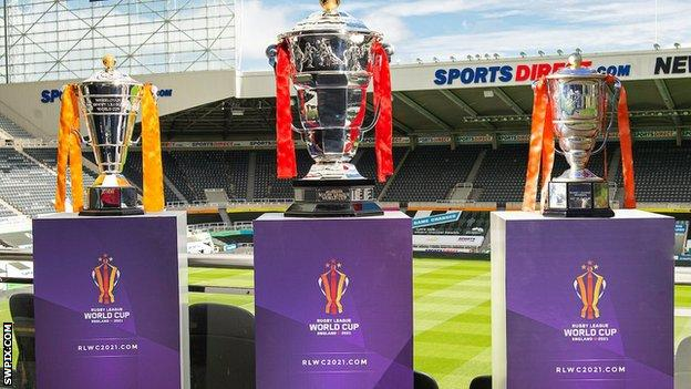 Rugby League World Cup trophies